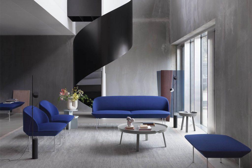 Oslo sofa, Classic Blue Pantone 2020